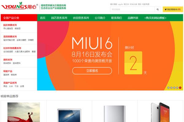 小米手机商城简洁风格网站
